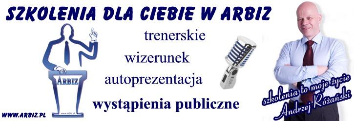 Akademia Przemawiania ARBIZ - Andrzej Rózański. Oferuję szkolenia trenerskie o raz szkolenia w zakresie wystąpień publicznych