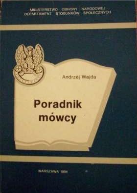"""Okładka książki Andrzeja Wajdy """"Poradnik Mówcy"""""""