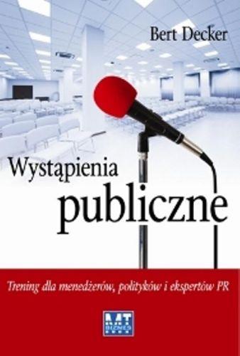 Książka Berta Deckera - Wystąpienia publiczne