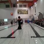 Pokaz mody KEY FASHION i prowadzaca Ivona Pavlovic w niecodziennej scenerii tj. w basenie.