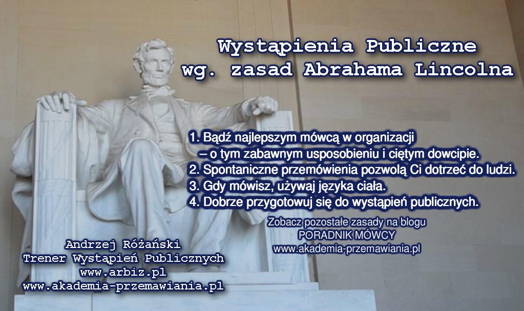 Wystpienia Publiczne wg zasad Abrahama Lincolna