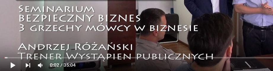 3 grzechy mówcy w biznesie - Seminarium